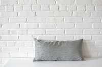 Pillow - Textured Gray Rectangle