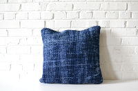 Collection of 5 Navy Killim-style PIllows