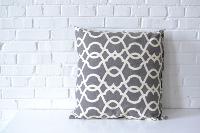 Pillow - White on Gray Pattern