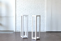 Pair of Modern White Columns