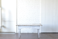 Five Foot White Farm Table