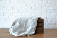 Gray Textured Throw