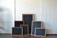 Collection of Copper Frames with Chalkboards