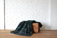 Green Flannel Throw Blanket