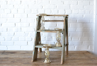 Mercury Glass Pillar Stand - 8.5