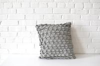Pillow - Geometric Gray Square