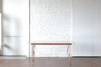 Hairpin Plexiglass Table