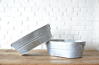Small Oblong Galvanized Tub