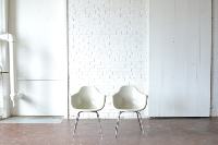 Pair of White Shell Chairs