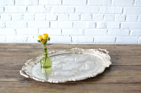 Large Silver Serving Tray