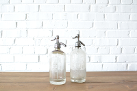 Vintage Seltzer Bottle - Clear
