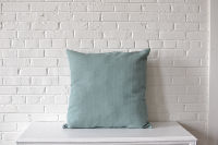 Pair of Oversize Light Blue Square PIllows