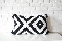 PIllow - Black & White Rectangle