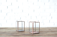 Copper & Glass Candleholder