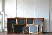Collection of Wood Frames with Chalkbaords