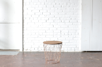 Copper & Wood End Table