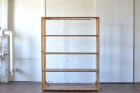 Classic Stained Wooden Shelving