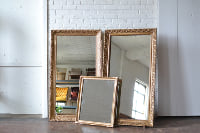 Collection of Gold Frames with Mirrors