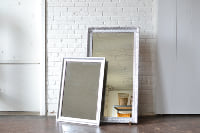 Collection of Silver Frames with Mirrors