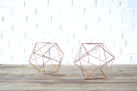 Geometric Copper Shape - Small
