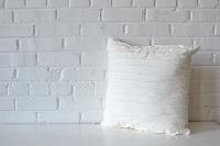 Pillow - White Ruffle