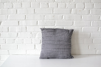 Pillow - Gray Lined Square