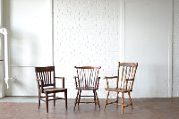 Mismatched Wooden Armchairs
