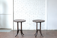 Pair of Pie Crust End Tables