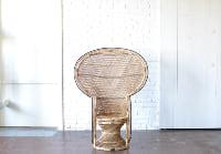 Oversized Wicker Peacock Chair