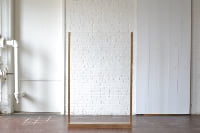 6' Freestanding Acrylic with Gold Trim