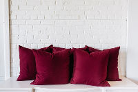 Collection of 5 Large Burgundy PIllows