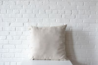 Collection of 4 Oversize Linen Square PIllows