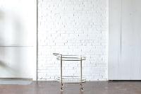 Brass & Glass Bar Cart