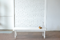 Long White Coffee Table