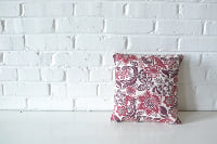 PIllow - Square Burgundy Pattern