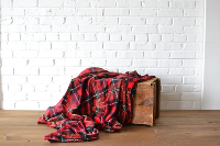 Red Flannel Throw Blanket