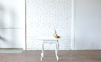 Square White End Table
