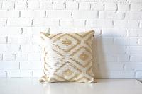 Pillow - Gold & White Diamond