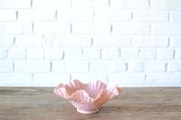 Pink Hobnail Milk Glass Bowl