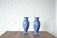 Blue & White Porcelain Vase