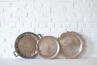 Trio of Vintage Tea Trays
