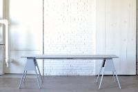 Gray Sawhorse Farm Table