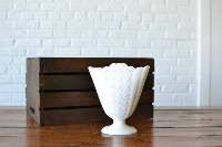 Milk Glass Fan Vase