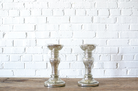 Mercury Glass Pillar Stand - 13