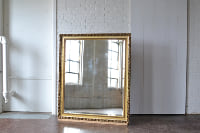 Oversized Gilded Mirror With Stand