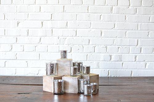 Silver Mercury Glass Votives