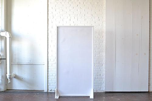 Free-Standing White Acrylic Panel