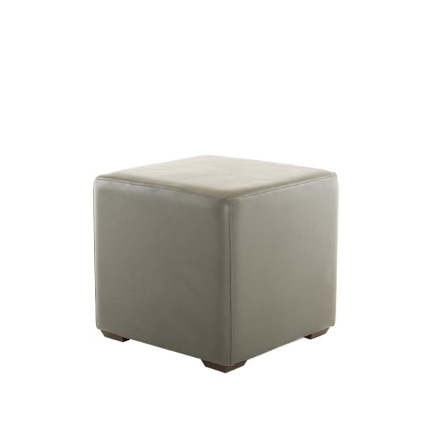gray leather cube