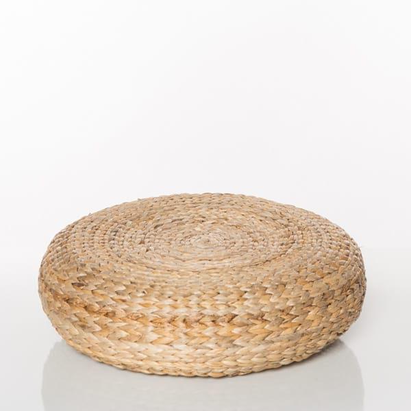 circular wicker bohmemian pouf