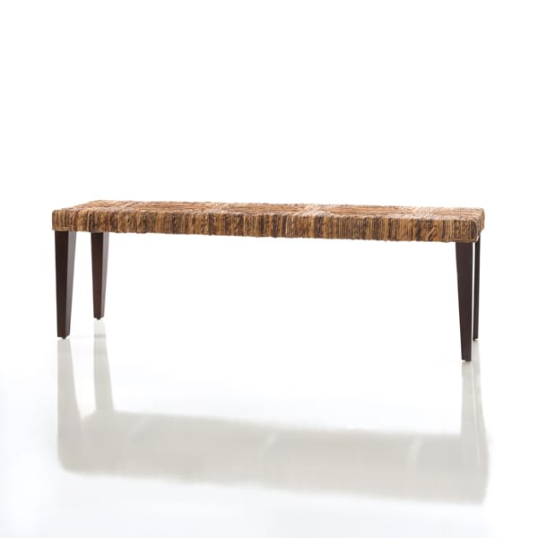 woven seagrass bench